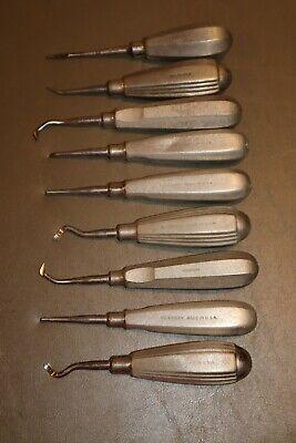 9 - Dental Hu-friedy Straight Luxating Elevators Endodontic Instrument Dentist