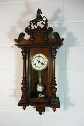 Antique German Wall Clock Antique Regulator Old Clock