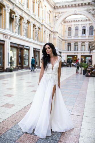 Wedding dress Simple bridal gown Bohemian dress Rustic wedding dress Dress slit