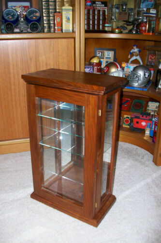 Vintage Wood and Glass Counter Top Tower Display Case
