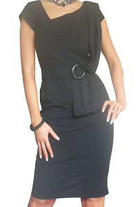 Dress-Ladies-Office-Work-Pencil-Womens-Bodycon-Business-New-Size-10-12-14-16-18