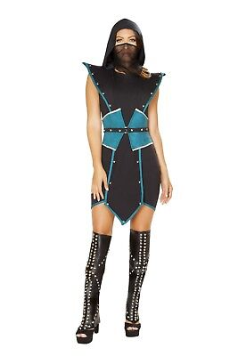 Sub Zero Woman Costume (Roma Emperors Guard Ninja Assassin Mortal Kombat Sub-Zero Dress Costume)