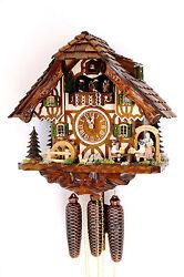 cuckoo clock black forest 8 day original germany  music beer drinker beer garden