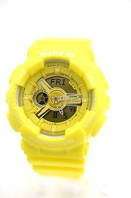 CASIO G-SHOCK GMAS110HT-9A Yellow Analog Digital Sport Resin Band