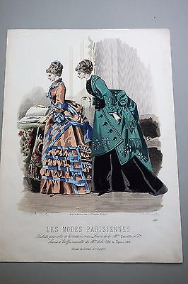 Les Modes Parisiennes - Farblithographie Nr. 1567 Mode Paris 19. Jahrhundert
