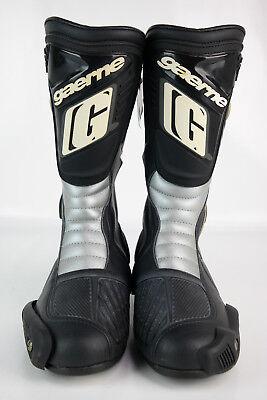 Gaerne bottes de moto, chaussures course, leder- démarrage, noir, gris, taille