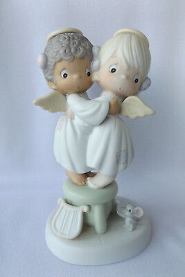 Precious Moments Angels We Have Heard On High HUGE Porcelain Figurine In Box