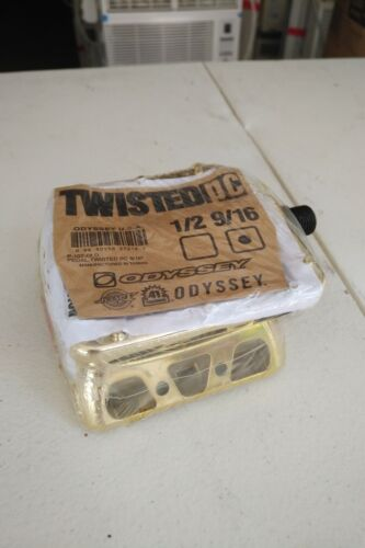"Odyssey Twisted Pc BMX Bike Pedals 9/16"" P-107-GLD 1/2 9/16 Gold NEW!"