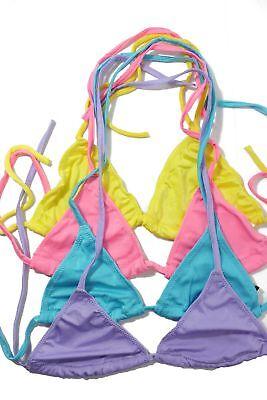 Flirtzy Sexy Lycra Lined Triangle Bikini Halter Top - 4 Pack  ()