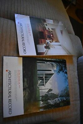 2 VTG MCM Architectural Record magazines Houses of 1970 1971 design