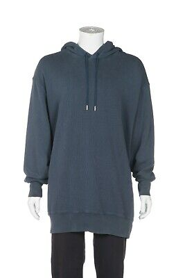 ACNE STUDIOS Men's Long Sweater Large Blue Fala Hooded Sweatshirt Oversized