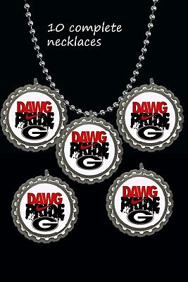 Georgia Bulldogs Dawg pride nike symbol Necklaces great party favors lot of 10  - Georgia Bulldog Party Supplies