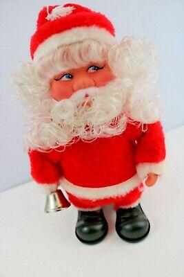 Vintage Walking Santa Claus Musical Ringing Bell Original Box (Santa Bell)