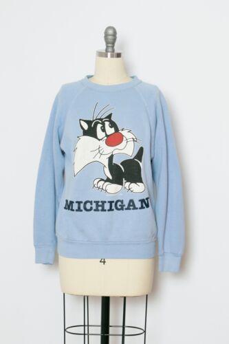 1990s Sweatshirt Sylvester Cat Michigan M