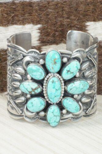 Turquoise & Sterling Silver Bracelet - Matilda Jon
