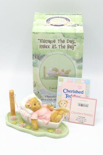 Cherished Teddies Carol Anne #CT1302 2013 Membear Only Figurine NIB