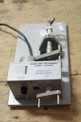 David Kopf Instruments Micrometer Hydraulic Micro Drive 50 Microns Per Rev