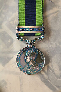 RAF BRITISH INDIAN ARMY TROOPS INDIA GENERAL SERVICE MEDAL GV WAZIRISTAN CLASP