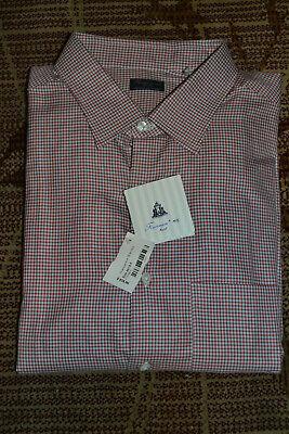 $525 Finamore Napoli 1925 Gingham Plaid L/S Dress Shirt - Sz 18.5/46