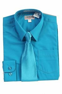 boys turquoise dress shirt ebay
