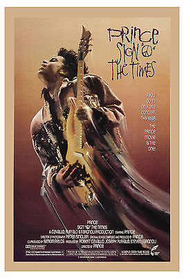 """Prince in """" Sign of the Times """" USA Movie Poster 1987"""