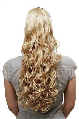Voluminös wallendes Haarteil Zopf lockig Locken lang 60cm - Lange Haare Blonde