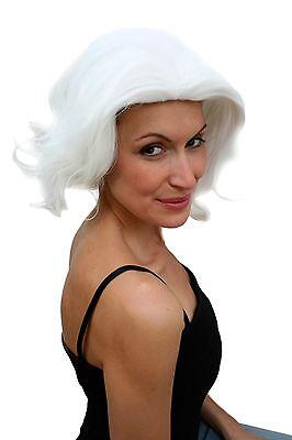 Wig Ladies Halloween Travestie Drag Queen White Wavy Backcombs 80er Diva (Halloween Drag Queen Wigs)