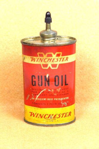 Vintage WINCHESTER LEAD TOP  Gun Oil Tin Can 3 fl. oz. Empty