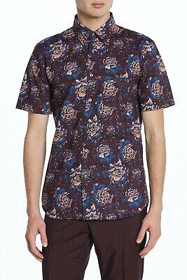 Burberry Floral Short Sleeve Trim Fit Casual Shirt, Trim fit, 41/US 16, $450 (Us Burberry Com)