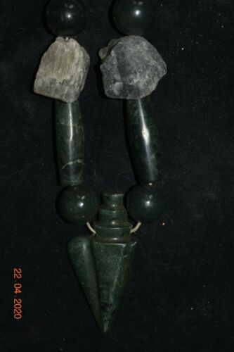 """SALE!! PRE COLUMBIAN MAYAN CRYPT JADE SHELL NECKLACE, 10"""" PROV"""