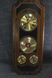 Vintage Bulova Quartz Wall Clock Storm Indicator