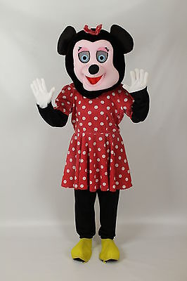 Adult Miss Mouse Big Head  Mascot Fancy Dress Costume Ex Hire - Mascot Costume Hire