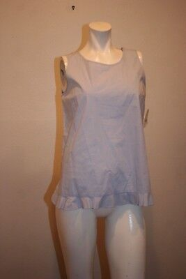 ZARA BASIC COLLECTION   SLEEVELESS CASUAL TOP BLUE COTTON  SIZE M, used for sale  Shipping to Nigeria