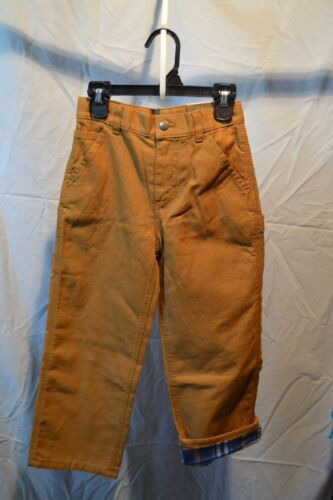 Carhartt Pants Flannel Lining Brown Kids/Youth Sizes NWT