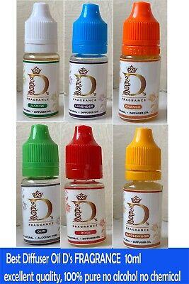 D's 100% Natural Diffuser Oil 10ml  Home Fragrances Best Room