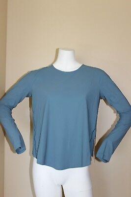 Lululemon Play Off The Pleats Long Sleeve Size 2 Persian Blue $88