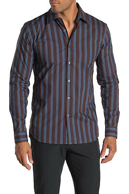 Burberry Striped Button Front Shirt, Spread collar, Striped, 42/16.5 US $550 (Us Burberry Com)