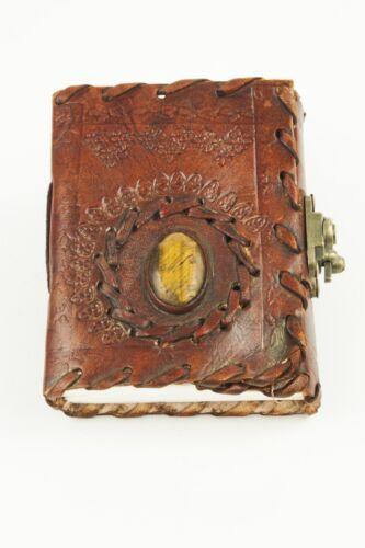 4x3.5 Handmade Leather Journal diary sketchbook lock magic s