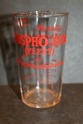 Phospho-Soda (Fleet) for Active Elimination Advertising Glass Vintage Shot Glass