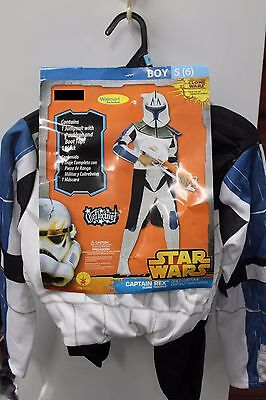 CAPTAIN REX Boys Small Costume Clone Trooper Star Wars Wal-Mart 884964 Child - Walmart Costumes For Boys