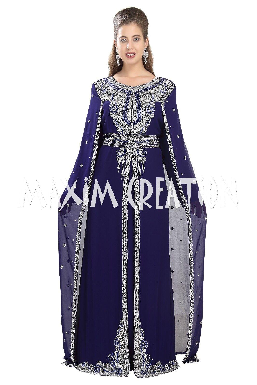 1670046d9ff7 NAVY BLUE KAFTAN ABAYA BY MAXIM CREATION TAKSHITA ARABIAN WEDDING GOWN 5531  фото