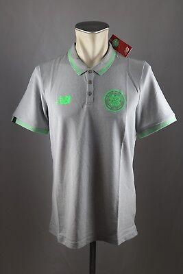 Celtic Glasgow FC Polo Shirt NEW BALANCE Gr. M L XL XXL XXXL 2017-18 grau Neu ()