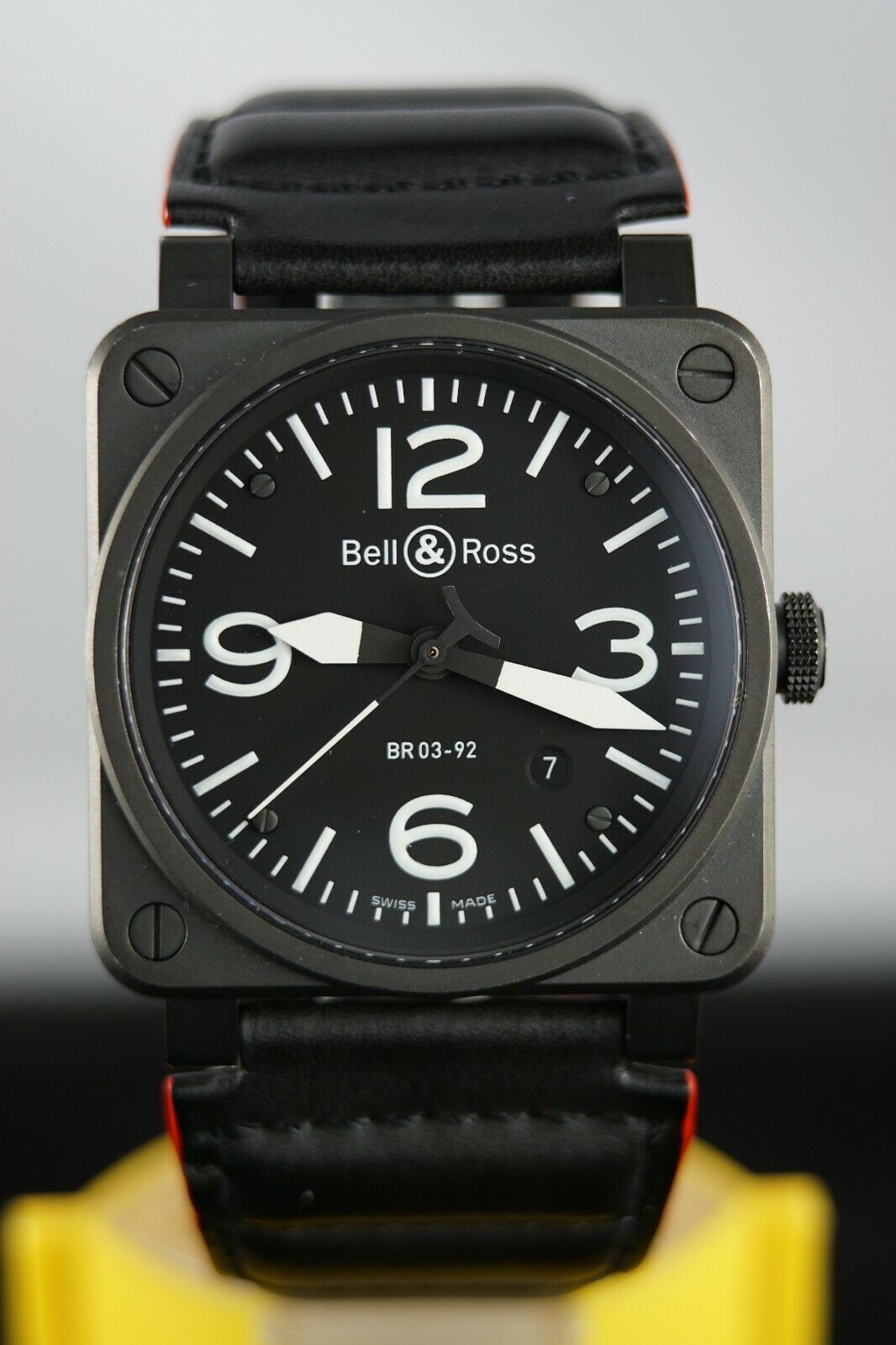 Bell & Ross BR 03-92 Steel BR0392-S-03686 Black Aviator Watch Automatic - watch picture 1
