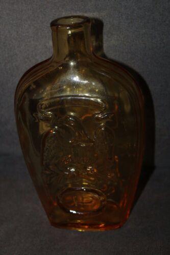 Vintage Repro Bottle OLD STURBRIDGE VILLAGE Eagle JP Amber Glass