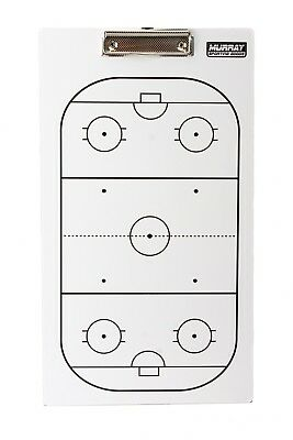 Murray Sporting Goods Dry-Erase Double Sided Hockey Coach Marker Board (Double Sided Dry Erase Marker)