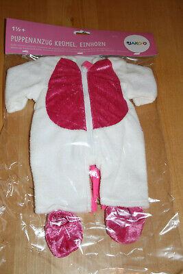 NEU Jako-o Kostüm Einhorn Krümel Puppenkostüm Overall Baby Born Fastnacht