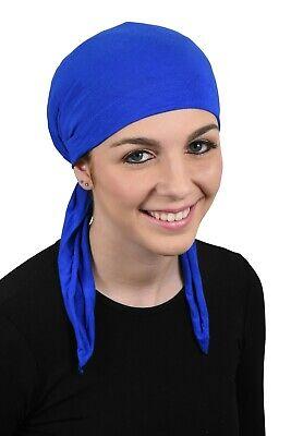 Pretied Bandana Cancer Headscarf  Royal Blue Alopecia Modest Womens Head Cover - Royal Blue Bandana