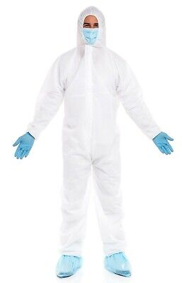 Isolation Coveralls Protective Suit Cat Iii Type 56 Ppe Hood Xxl