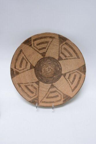 "Antique Basket: Superb Large Pima Winnowing Tray c. 1900  4 1/2"" x 17 3/4"""