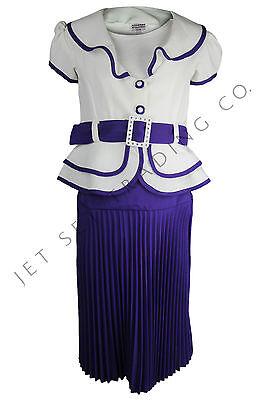 Set Elfenbein & Lila für Alle Anlässe Größen 7-16 (Mädchen Fancy Kleider 7 16)
